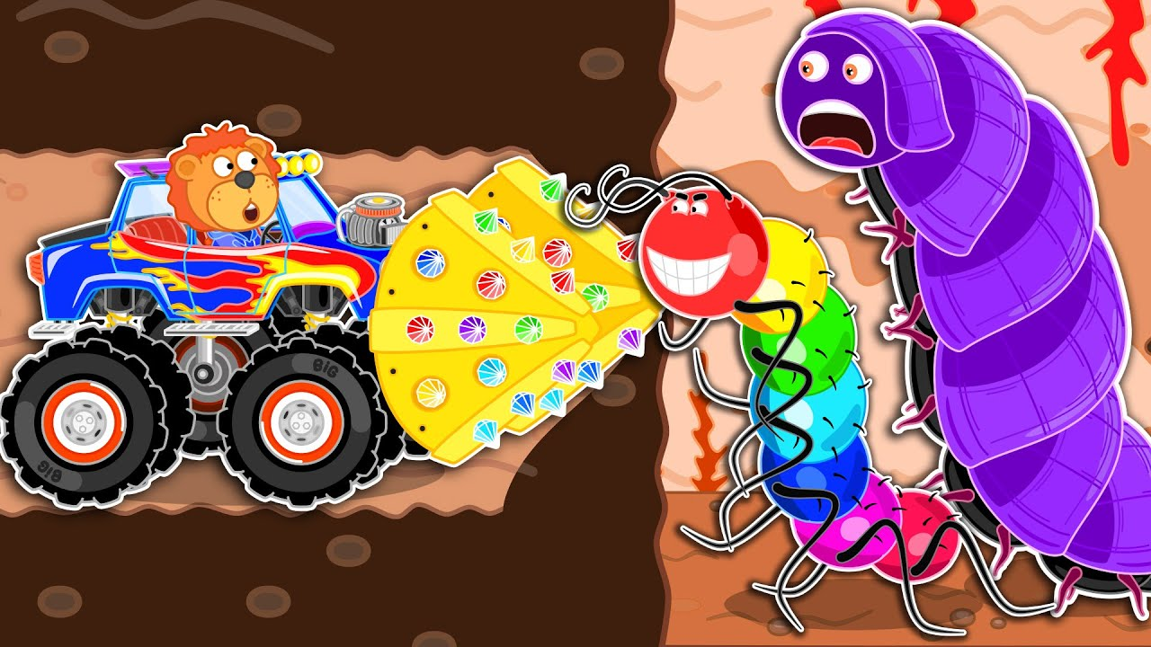 Lion Family ? Journey to the Center of the Earth #51. Rainbow Worm | Cartoon for Kids