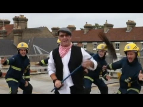 Firefighters dance to Mary Poppins song for chimney safety