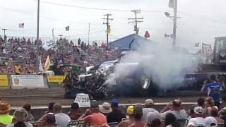 Bowling green modified tractor pull crash 2014