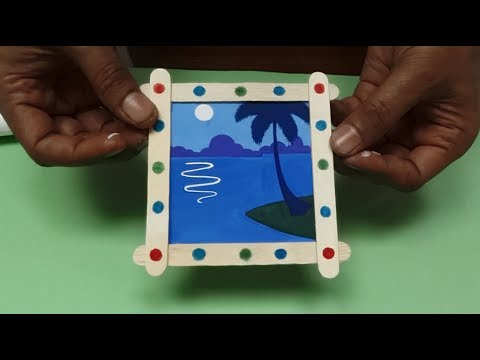 Photo frame with Ice-Cream sticks (Book A/ Page 52) - YouTube