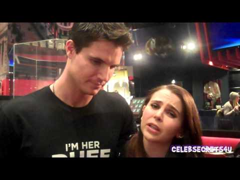 Robbie Amell & Mae Whitman Talk THE DUFF at Planet Hollywood