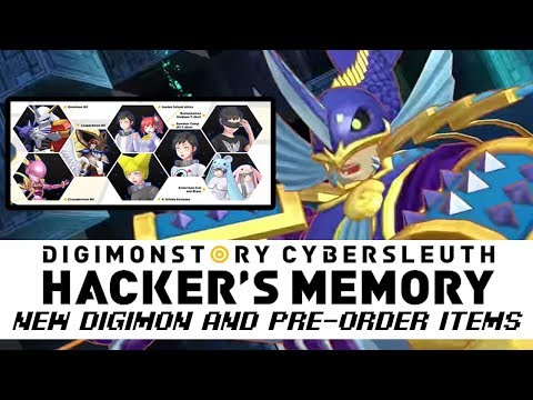 Digimon Story: Cyber Sleuth Hackers Memory Pre-Order Bonus Items + Neptunemon,Mercurymon & More!!