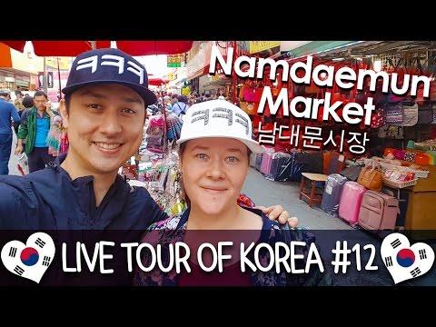 Exploring Namdaemun Market 남대문시장 구경하기 - 🇰🇷 LIVE TOUR OF KOREA #12