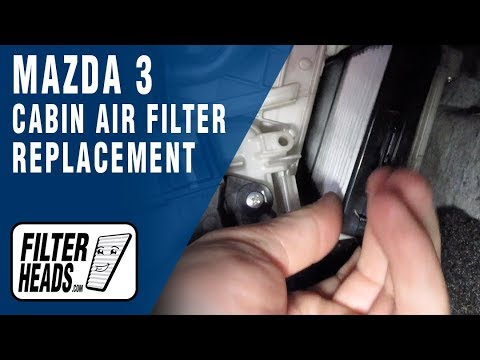 How to Replace Cabin Air Filter 2010 Mazda 3