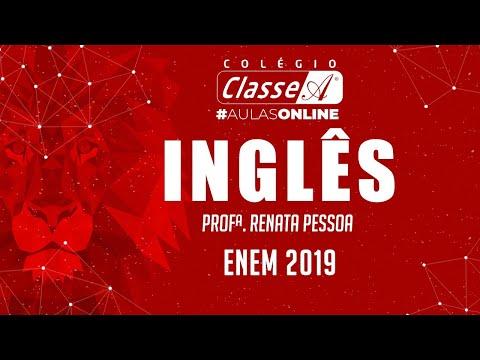 RESOLUÇÃO DO ENEM 2019 - Inglês