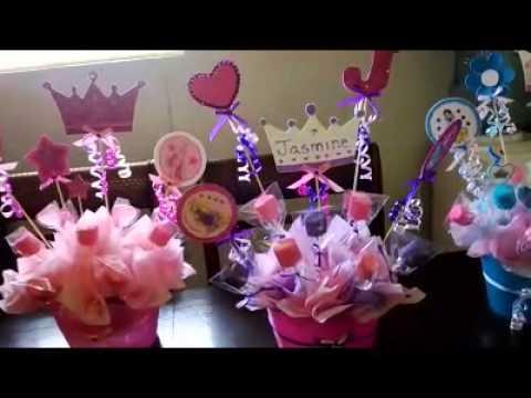 Centro de mesa de las princesas para jasmine - YouTube