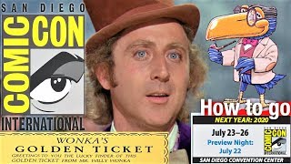 How To Go To San Diego Comic Con New SDCC 2020 🎟 All Days