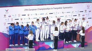 Российские гимнасты показали блестящий результат на чемпионате Европы по прыжкам на батуте