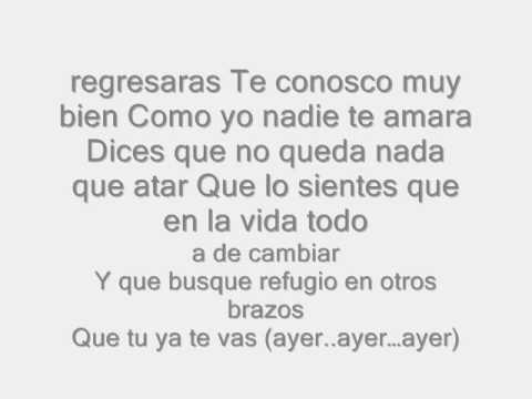 Lyrics to chiquilla