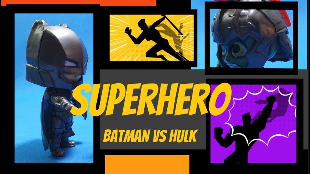 Batman contra Hulk Superhero superheroes stop motion