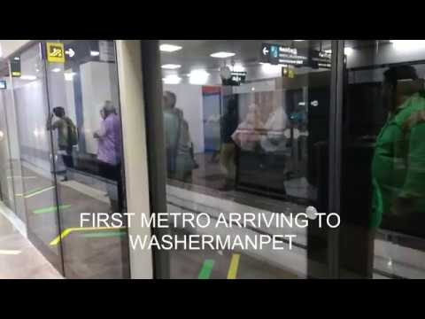 CHENNAI METRO RAIL INAGURATION FROM CENTRAL TO WASHERMANPET