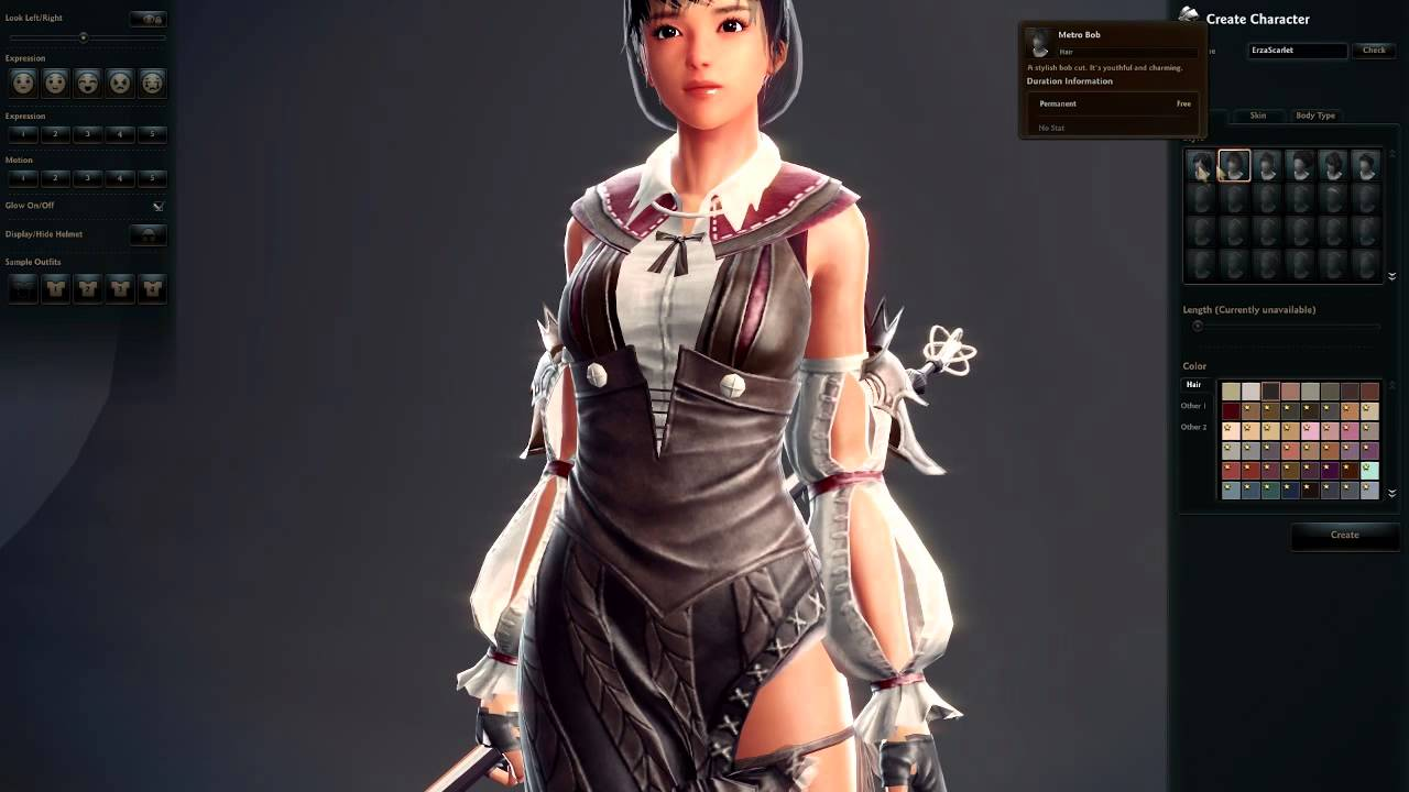 vindictus female character creation youtube
