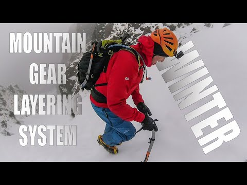 Winter Clothing Layering System For Mountain Hiking