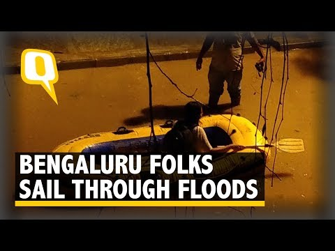 Bengaluru Folks Sail Through Floods | The Quint