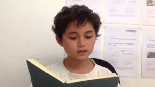 "James Reads ""A Slash Of Blue"" By  Emily Dickinson"