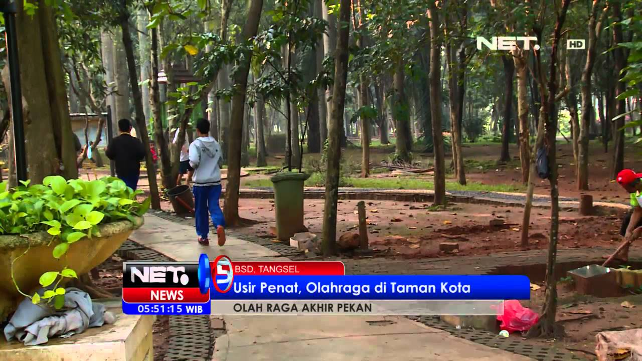 NET5 Olahraga di Taman Kota BSD Tangerang - YouTube