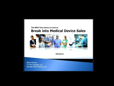 The BEST free advice on how to Break into Medical Device Sales Webinar