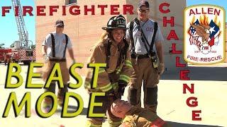 Firefighter Agility Test - BEAST MODE !!  Allen Fire Department
