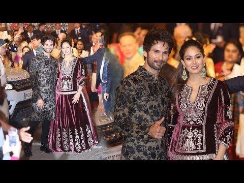 Shahid Kapoor And Mira Rajput Look So Royal At Isha Ambani's Wedding Reception