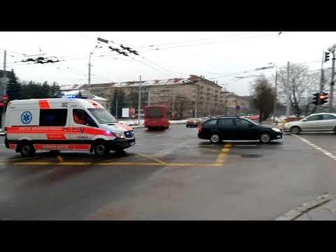 Ambulance responding in Lithuania, Vilnius | Greitoji skuba