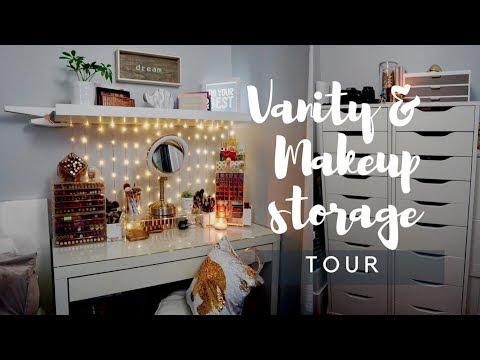 Makeup Storage & Vanity Tour   Makeup Storage and Organization - Christine Cruz