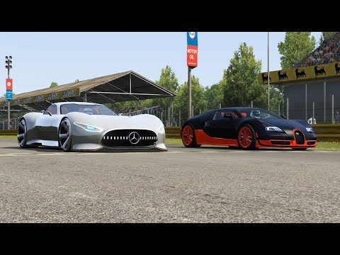 Mercedes-Benz Vision GT Vs Bugatti Veyron 16.4 SS At Monza Full Course 1966