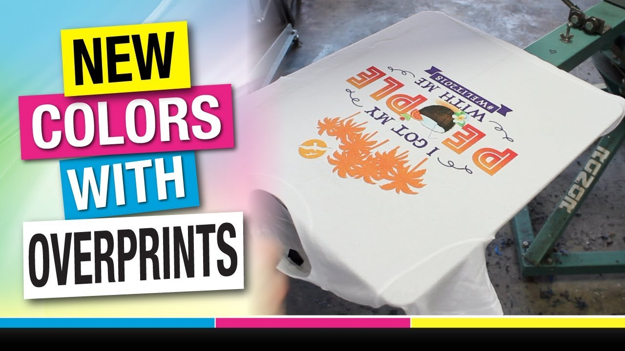 8b5e8e4a3 How to Screen Print Spot Simulated Process on White T-Shirts - Overprinting