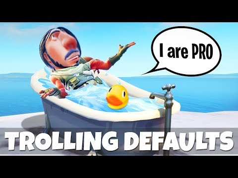 TROLLING DEFAULT NOOBS IN FORTNITE! Fortnite Battle Royale & Funny Moments #4