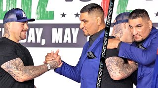 ANDY RUIZ JR AND CHRIS ARREOLA SHOW MAD RESPECT TO EACH OTHER AT FACE OFF