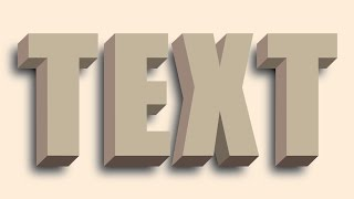 Repeat youtube video How to create 3D text without using the 3D tool in Illustrator