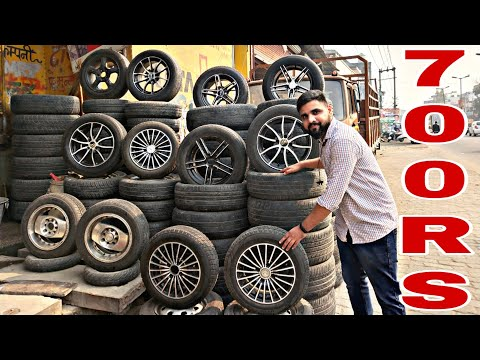 CHEAPEST alloys and tyres Starting from 700Rs | saste allow or tyres😮