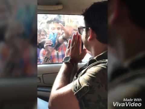 25.03.2017 KO RUNNI saidpur me Pawan Singh Satya movie promotion karne aaye Hua the