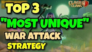 "TOP 3 ""MOST UNIQUE"" 3 STARS Th9 War ATTACK 