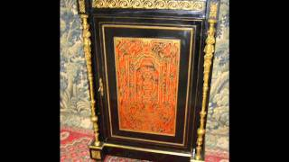 Antique Napoleon Iii Buffets, Sideboard Boulle Style Cabinet