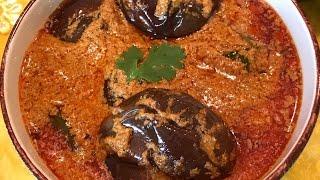 Hyderabadi Bagara Baingan Recipe  How to make Masala Brinjal Curry  Vankaya Masala curry
