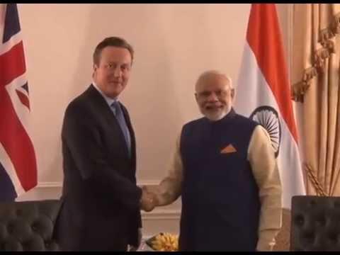 PM Modi meets UK PM David Cameron in New York