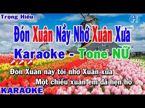 Karaoke Đón Xuân Nầy Nhớ Xuân Xưa Tone Nữ | Nhạc Sống | đón xuân nầy nhớ xuân xưa karaoke beat nữ