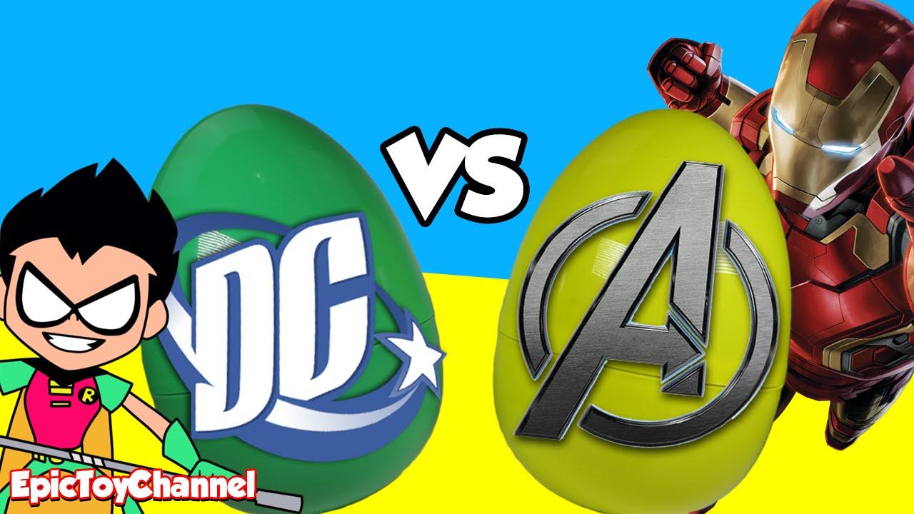 justice league vs avengers   marvel vs dc toys   teen titans go  u0026 batman toys by epic toy