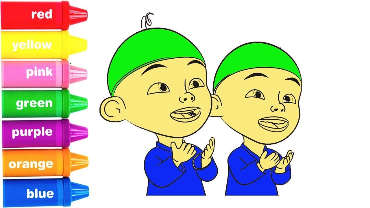 Belajar menggambar Dan Mewarnai UPIN IPIN DAN KAWAN KAWAN Learn Colors Upin Ipin English