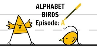 Drawing Alphabet Birds Episode: A