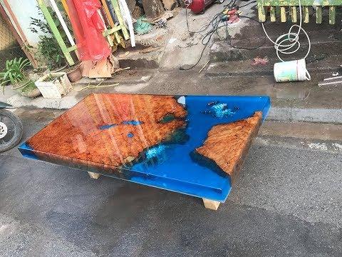 Bảng Báo Giá Mặt Bàn Gỗ 3D Epoxy Resin Ở Hà Nam - 0789 000 533