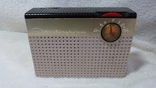 1956 Westinghouse model H-563P4A portable TUBE radio (USA)