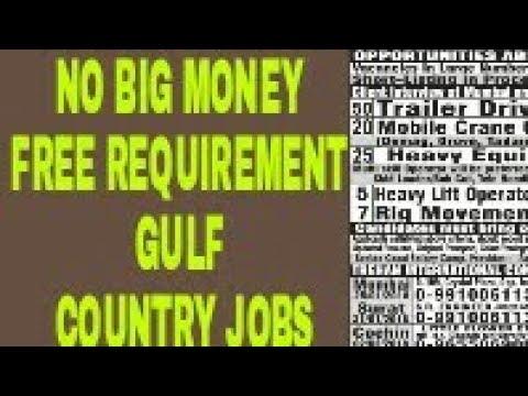 No Big Money Free Dubai,Qatar, All Gulf Driver and all Traders Jobs