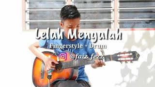 Gambar cover Lelah Mengalah - The Mirza   Fingerstyle cover with Lyric   Guitar cover   Faiz Fezz