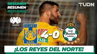 Resumen y Goles | Tigres 4 - 0 Santos | Liga Mx - AP 19 - J13 | TUDN
