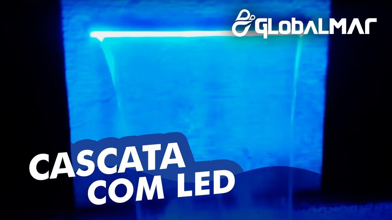 Cascata de embutir na parede com ilumina o para piscina for Iluminacao na piscina e perigoso