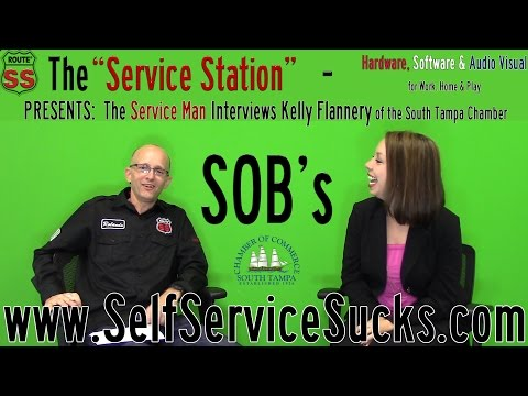 The Service Man Interviews SOB Kelly Flannery of The South Tampa Chamber of Commerce!