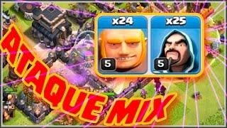 GIGANTES Y MAGOS!! - ATAQUE MIX - A por todas con Clash of Clans - Español - CoC
