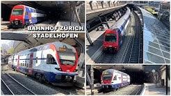 Züge beim Bahnhof Zürich Stadelhofen