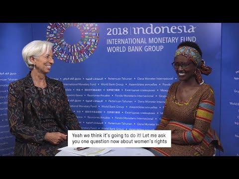 Ending the Inequality Crisis: Winnie Byanyima & Christine Lagarde interview, IMF Meetings, Bali 2018